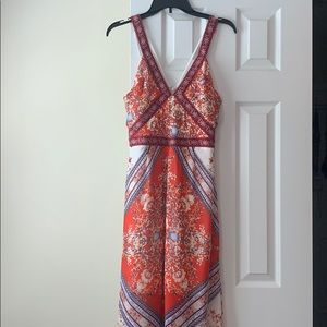 Filly Flair red floral maxi dress, size L